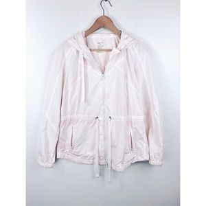 Gap | Pale Pink Tie Waist Hooded Soft Rain Jacket